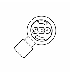 SEO optimization icon outline style vector