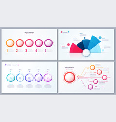 set 5 options infographic designs vector image