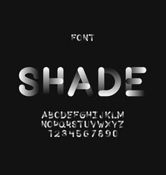 shade font alphabet vector image