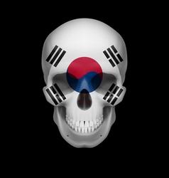 South Korean flag skull vector