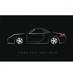 Sport scar silhouette vector