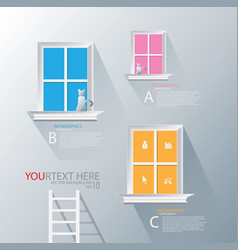 stairs to window infographic vector image