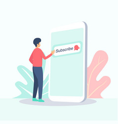 subscribe video blog concept vector image