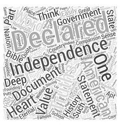 The Declaration of Independence Word Cloud Concept vector