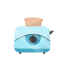 toaster with fresh toast electrical device vector image