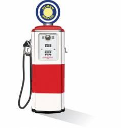 vintage gasoline pump vector image