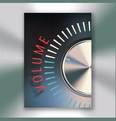 Volume button poster vector