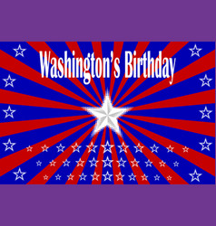 washingtons birthday vector image