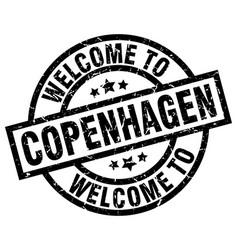 welcome to copenhagen black stamp vector image