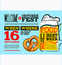 welcome to oktoberfest poster horizontal vector image