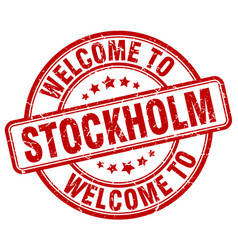 Welcome to stockholm vector