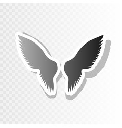 wings sign new year blackish vector image