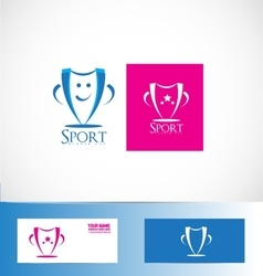 Winner sport cup trophy logo vector