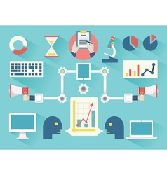 Work business proces vector