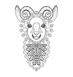 zentangle Ram Head Goat vector image