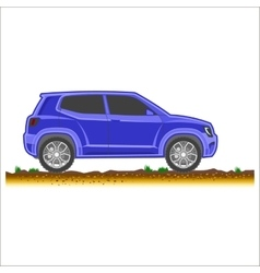 blue suv car off-road 4x4 icon colored vector image vector image