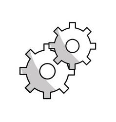 figure gears symbol process industry vector image vector image
