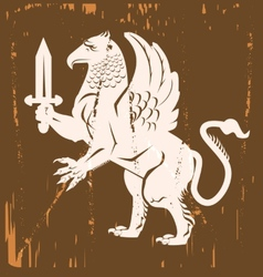 Griffin Medieval vector image vector image