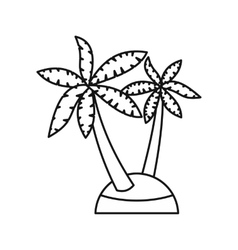 Palm trees icon outline style vector image
