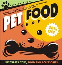 pet food vector image vector image