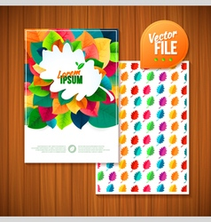 nature rainbow leaves leaves abstract background vector image vector image