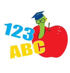 abc worm vector image
