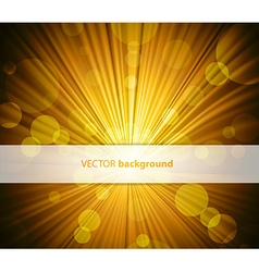 Abstract background with sunshine and half vector image vector image