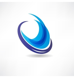 abstract blue water icon vector image vector image