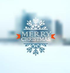 Christmas greeting card Christmas emblem vector image vector image