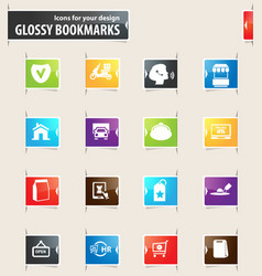 e-commerce bookmark icons vector image