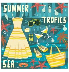 fashion set summer clothes vector image vector image
