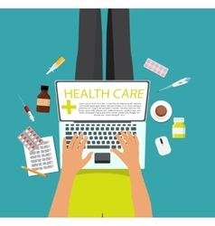 Health Care Modern Flat Concept Background vector image