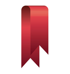 red shiny satin ribbon icon decorative vector image vector image