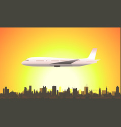 summer flying airplane vector image vector image