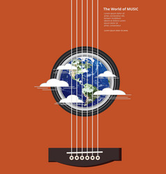 the world of music poster vector image vector image