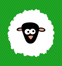 2015 New Year Cartoon Sheep on Green Background V vector image