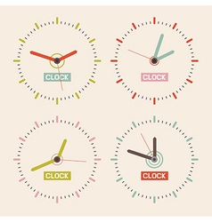 Abstract Retro Clock Set vector image vector image