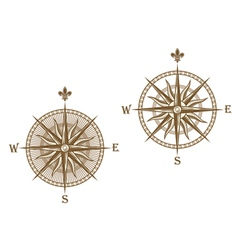 Ancient compass vector