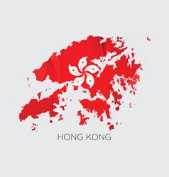 map of hong kong vector image vector image