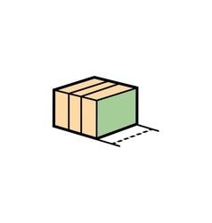 parcel box vector image vector image