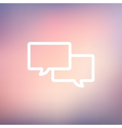Two Speech bubbles thin line icon vector image