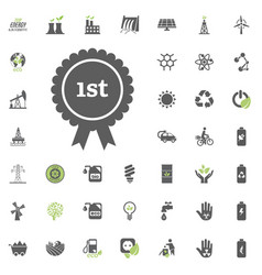 1st place icon eco and alternative energy vector