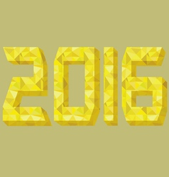 2016 font gold design vector