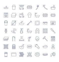 49 wash icons vector