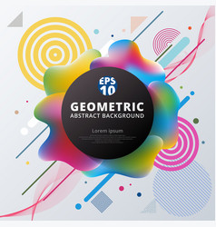 abstract 3d plastic colorful circle geometric vector image