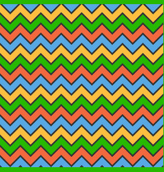 Abstract color zigzag wave pattern background vector