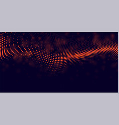 Abstract particles background in red color vector