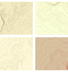 Abstract topographic map set vector