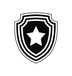 American badge icon vector image
