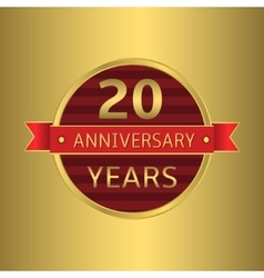 Anniversary 20 years vector